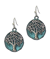 VINTAGE METAL TREE OF LIFE EARRING