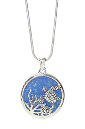 SEALIFE THEME OPAL NECKLACE - TURTLE