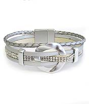 MULTI LAYER LEATHERETTE MAGNETIC BRACELET - RING