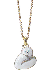 EPOXY CAT PENDANT NECKLACE