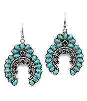 NAVAJO STYLE TURQUOISE EARRING