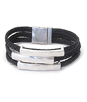 INSPIRATION THEME TRIPLE METAL BAR MAGNETIC BRACELET - SHE BELIEVED SHE COULD SO SHE DID