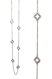 QUATREFOIL LONG STATION NECKLACE