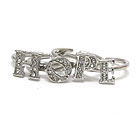 CRYSTAL HOPE MESSAGE WIRE RING SET OF 4