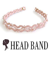 CRYSTAL AND BEADS HANDMADE ART CRAFT HEAD BAND