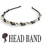 PEARL AND CRYSTAL HANDMADE ART CRAFT HEAD BAND