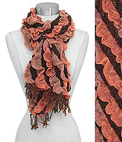 EMBOSSED STRIPES SCARF