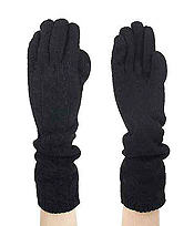 10% ANGOLA 40% WOOL 50% ACRYLIC CABLE KNIT LONG GLOVE