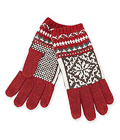 SMART TOUCH NORDIC PATTERN GLOVES - 35% WOOL 65% ACRYLIC