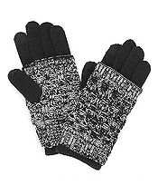 SMART TOUCH 2 PIECE LAYERED GLOVES - 35% WOOL 65% ACRYLIC