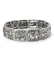 WESTERN THEME STRETCH BRACELET - WILD WEST COW GIRL