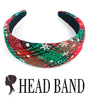 CHRISTMAS THEME HEAD BAND - SNOWFLAKE