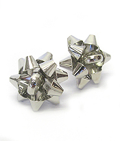 GIFT BOX BOW STUD EARRING