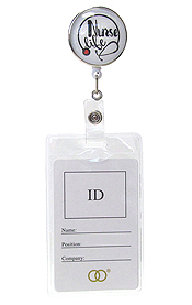 CLIP BACK RETRACTABLE REEL CABOCHON ID HOLDER - NURSE LIFE