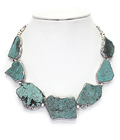 MULTI TURQUOISE LINK NECKLACE