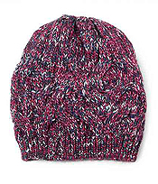 MULTI COLOR KNIT BEANIE - 100% ACRYLIC