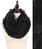 TWISTED FUR TUBE INFINITY SCARF - 100% POLYESTER