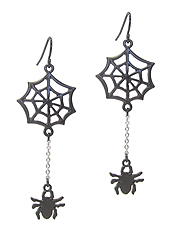 HALLOWEEN THEME EARRING - SPIDER WEB