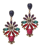 MULTI CRYSTAL PARTY EARRING