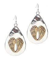 RELIGIOUS THEME METAL EARRING - ANGEL WING