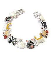 PET LOVERS EPOXY MAGNETIC BRACELET - CAT MOM