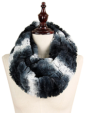 OMBRE TEXTURE FAUX FUR INFINITY SCARF - 100% POLYESTER
