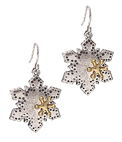 CHRISTMAS THEME SNOW FLAKE EARRING