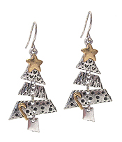 CHRISTMAS THEME TREE EARRING