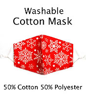 CHRISTMAS THEME WASHABLE FACE MASK WITH FILTER INTERLAYER AND ADJUSTABLE LENGTH -FILTER NOT INCLUDED