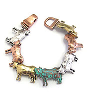 FARM ANIMAL THEME MAGNETIC BRACELET - COW