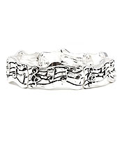 VINTAGE METAL MUSIC NOTE STRETCH BRACELET