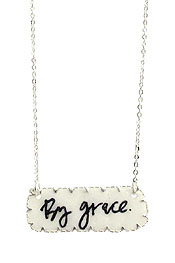 RELIGIOUS INSPIRATION SHELL PENDANT NECKLACE - BY GRACE