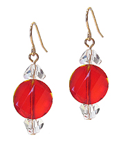 FACET GLASS MIX EARRING - CHRISTMAS THEME