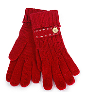 BUTTON AND STITCH KNIT GLOVES - 10% ANGOLA 40% WOOL 50% ACRYLIC