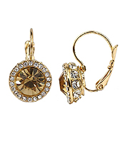 FACET GLASS AND CRYSTAL MIX FRENCH CLIP EARRING