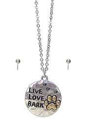 PET LOVER THEME NECKLACE SET