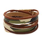 MULTI LAYER LEATHER AND CHAIN MIX WRAP MAGNETIC BRACELET