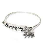 MAMA BEAR INSPIRATION WIRE BANGLE BRACELET