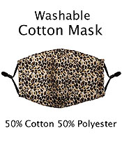 ANIMAL PRINT WASHABLE FACE MASK WITH FILTER INTERLAYER AND ADJUSTABLE LENGTH -FILTER NOT INCLUDED