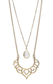DOUBLE LAYER METAL NECKLACE