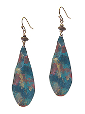 PAINT TEARDROP EARRING