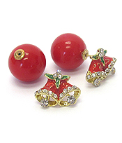 CHRISTMAS BELL DOUBLE SIDED EARRING