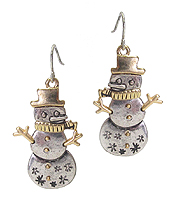 CHRISTMAS THEME SNOWMAN EARRING