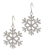 CRYSTAL SNOW FLAKE EARRING