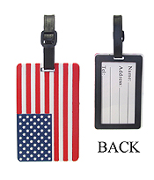LARGE RUBBER LUGGAGE TAG - AMERICAN FLAG