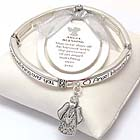 INSPIRATION MESSAGE STRETCH BRACELET - ANGEL BLESSING - BOOKMARK INCLUDED