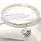 INSPIRATION MESSAGE STRETCH BRACELET - DAUGHTER'S BLESSING - BOOKMARK INCLUDED