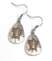 CHICOS STYLE VINTAGE METAL TURTLE EARRING