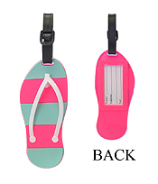 LARGE RUBBER LUGGAGE TAG - FLIP FLOP