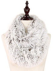 FUR 100% POLYESTER INFINITY SCARF